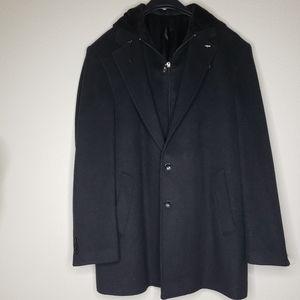 NEW $695 Bocelo Coat Black Wool & Cashmere…